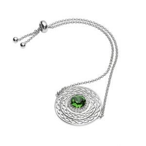 Sterling Silver Celtic Halo Bracelet Adorned With Crystals