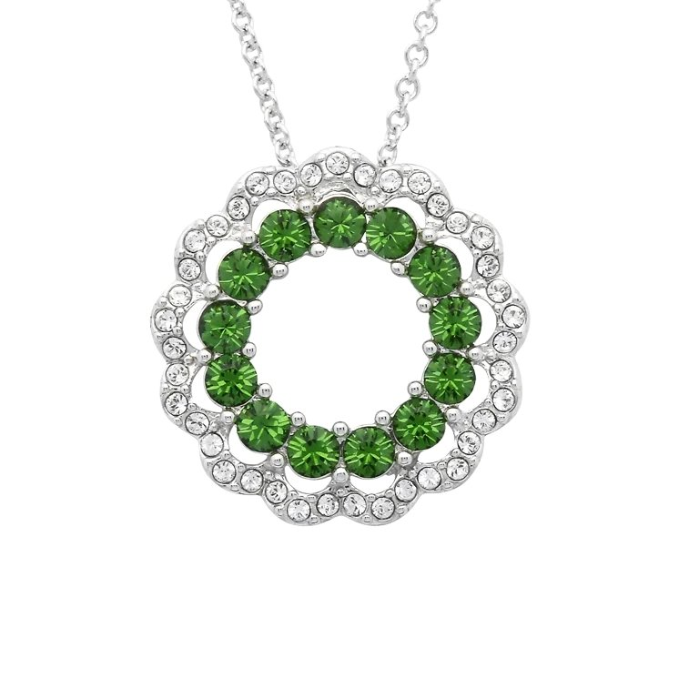 Sterling Silver Pendant Encrusted With Swarovski Crystals