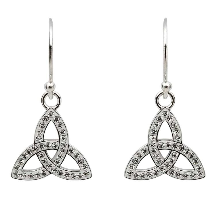 Trinity Earrings Adorned With Crystals