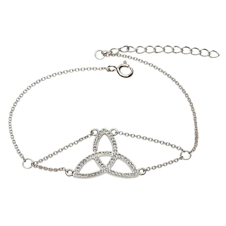 Trinity Knot Bracelet Adorned With Crystals