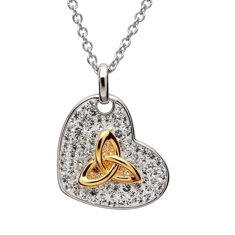 Trinity Necklace Encrusted With Crystals