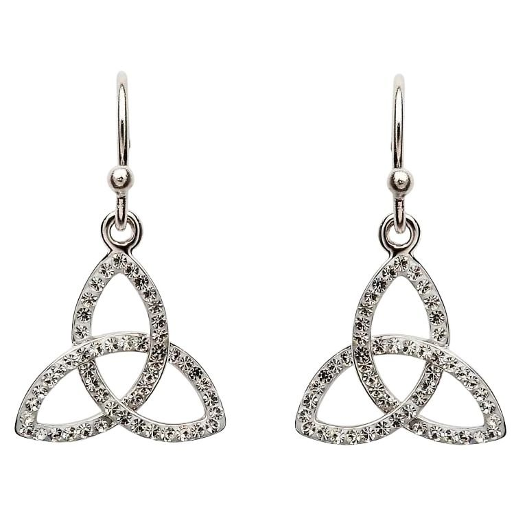 Trinity knot Earring Embellished With Crystals