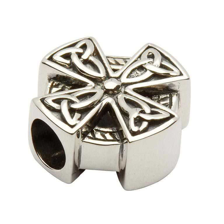 Celtic Design Silver Cross Bead Td42