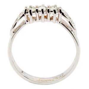 Celtic Diamond Ring 14K White Gold 3 Stone 25Ct 14Rc3Stwd_2