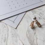 Celtic Silver Pearl Rose Gold Plated Earrings Se2091_2 - Gallery Thumbnail Image