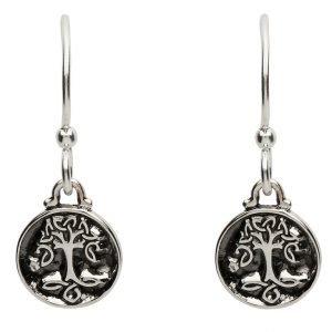 Celtic Silver Tree Of Life Earrings Se2226
