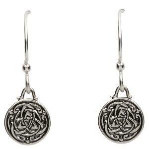 Celtic Silver Trinity Knot Earrings Se2227