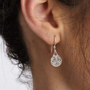 Celtic Silver Trinity Knot Earrings Se2227_2
