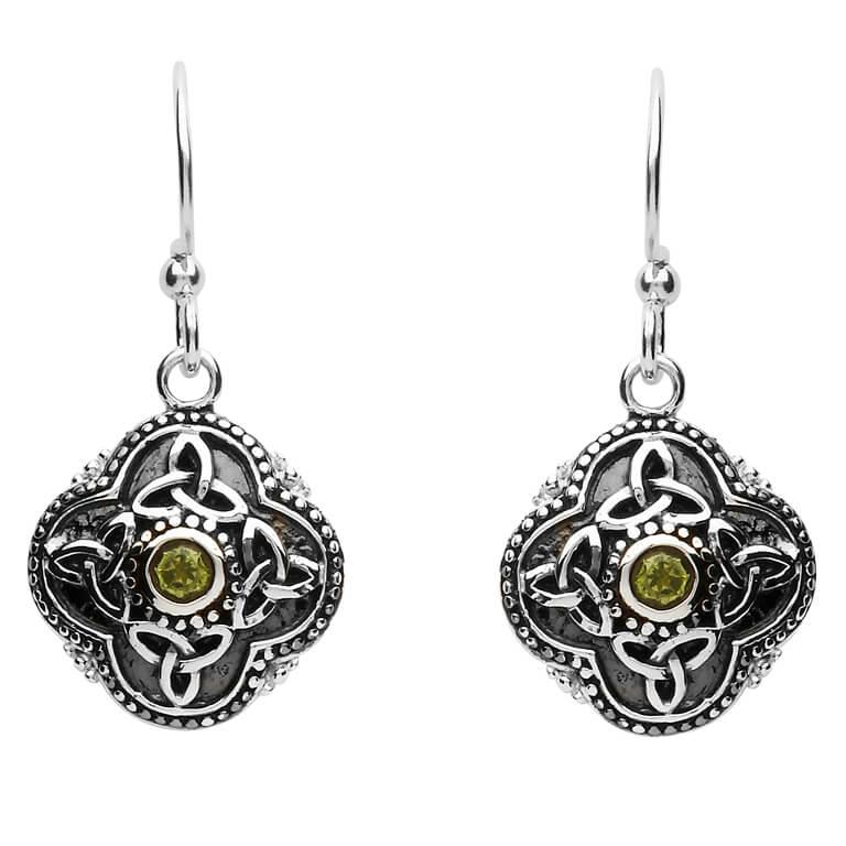 Celtic Tribal Silver Trinity Earrings Se2210Pt