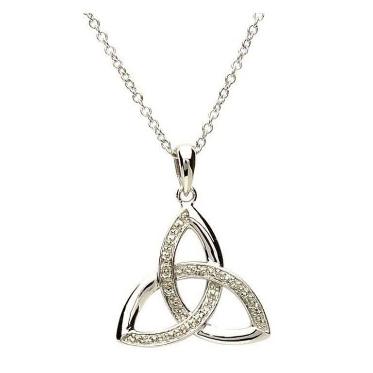 Celtic Trinity Diamond Set Necklace Sp2022