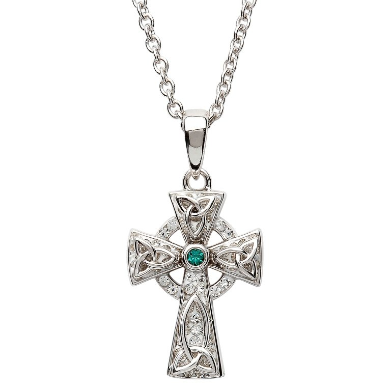 Celtic Trinity Knot Cross Adorned With Swarovski Crystal Sw65