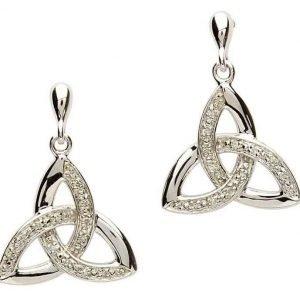 Celtic Trinity Knot Diamond Earrings Se2023