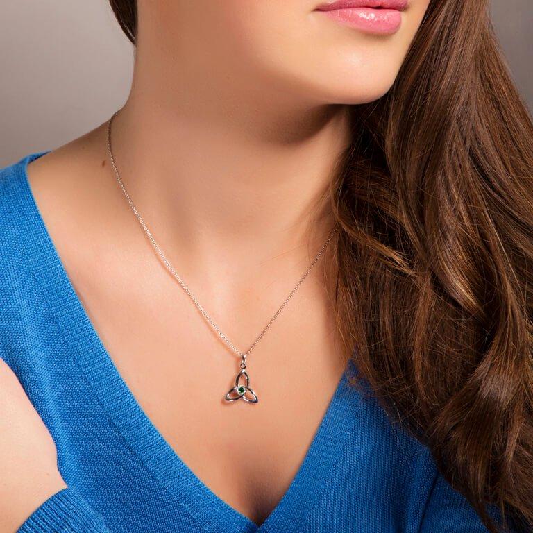 Celtic Trinity Knot Necklace Sp2053_2
