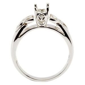 Celtic Trinity Mount Only Ring 14K White Gold For Round Cut Diamond Jp1W Mount Only_2