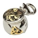 Celtic Trinity Pot Of Gold Charm Tc9 - Gallery Thumbnail Image