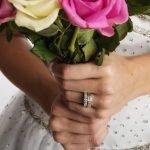 Celtic Wedding Band Ladies Emerald And Diamond Set 14Ws6W2Ed_4 - Gallery Thumbnail Image