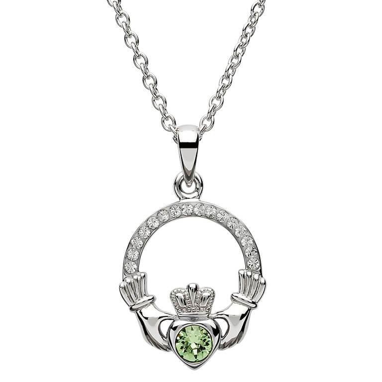 Claddagh Birthstone August Pendant Adorned With Crystal Sw101Pt