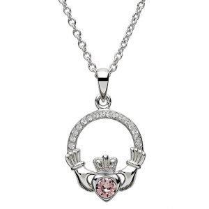 Claddagh Birthstone June Pendant Adorned With Swarovski Crystal Sw101Ax
