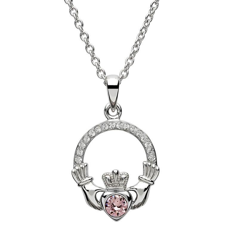 Claddagh Birthstone June Pendant Adorned With Crystal Sw101Ax