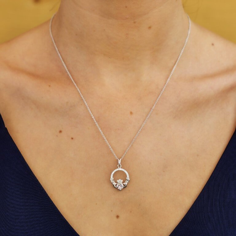 Claddagh Birthstone June Pendant Adorned With Crystal Sw101Ax_2