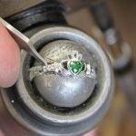 Claddagh Birthstone Ring May Sl90Gr_2 - Gallery Thumbnail Image