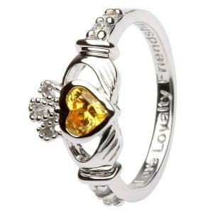 Claddagh Birthstone Ring November Sl90Tz