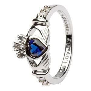 Claddagh Birthstone Ring September Sl90S