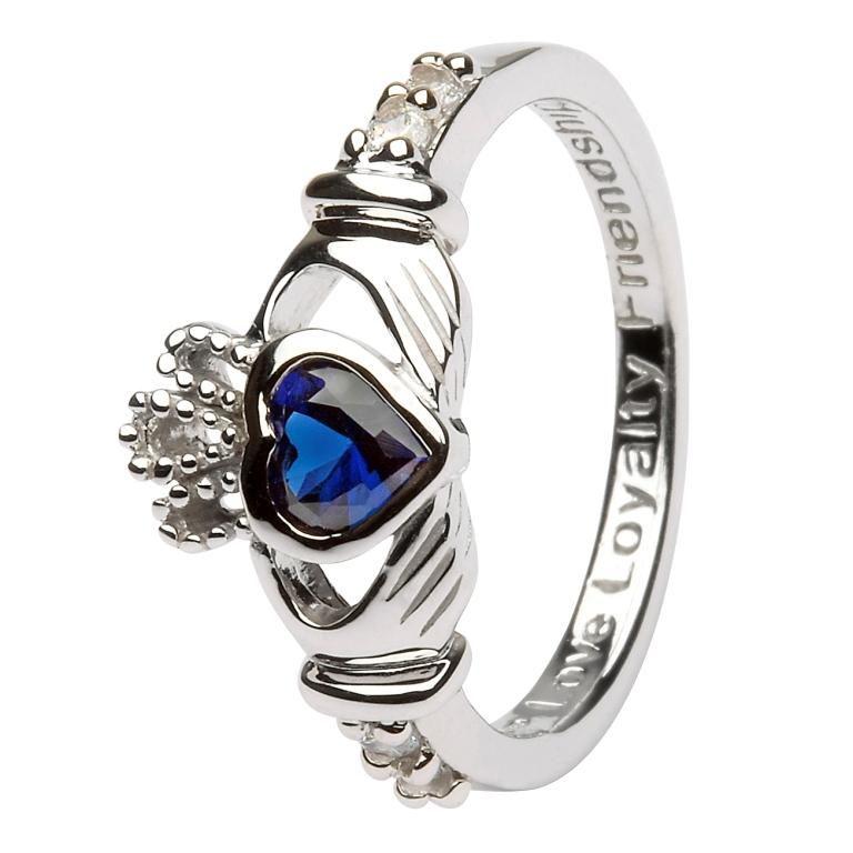 Claddagh Birthstone Ring September Sl90S