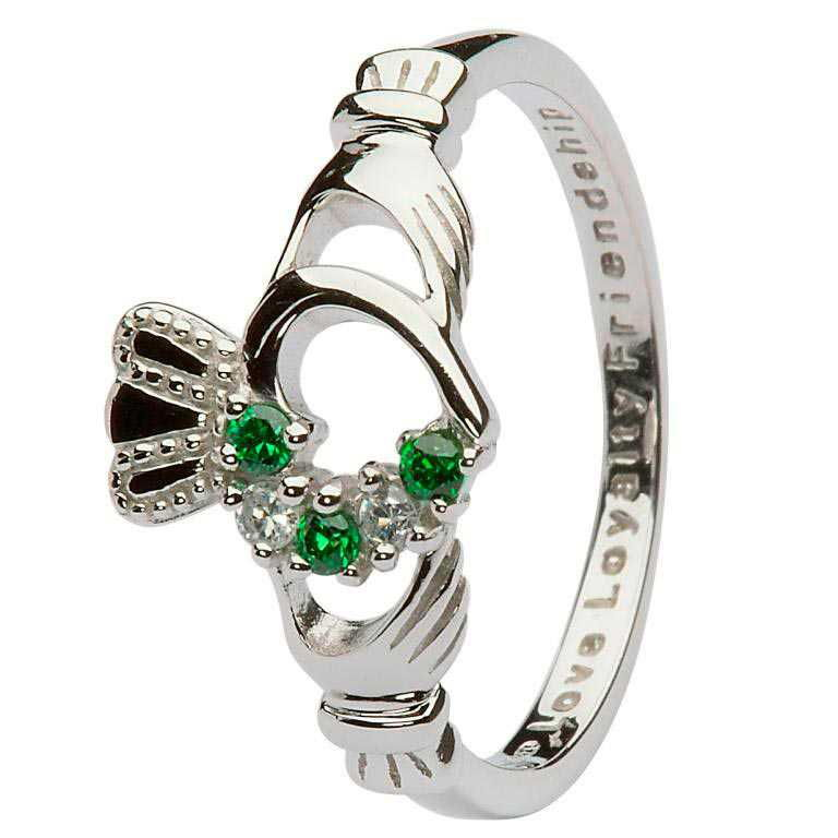 Claddagh Heart Set Ring Sl75Grcz