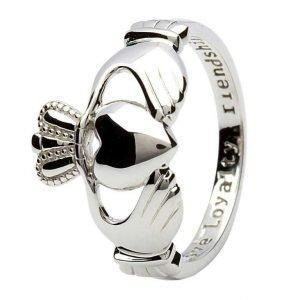 Claddagh Love Loyalty Friendship Silver Ring Sl1