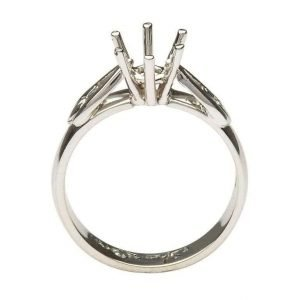 Claddagh Mount Only Ring 14K Yellow And White Gold For Round Cut Diamond 14M1S4W Mount Only_2