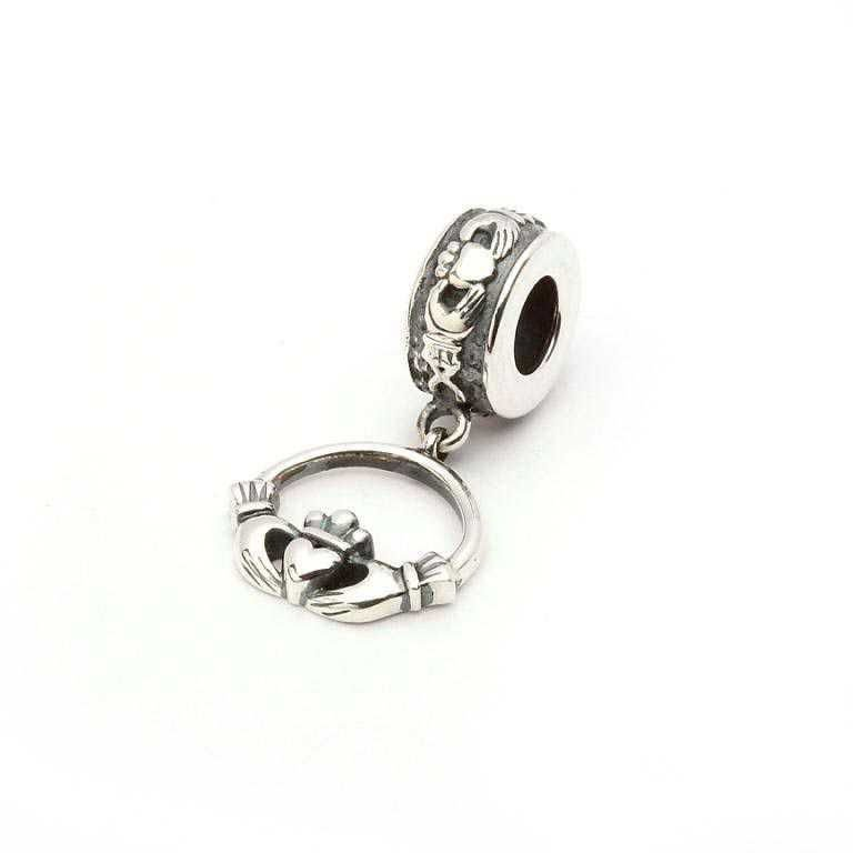 Claddagh Silver Dangle Drop Bead Td66