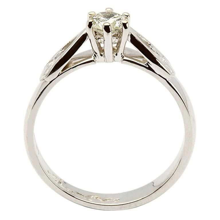 Claddagh Solitaire Diamond 14K White Gold Engagement Ring Round Cut 14M1S4W_2