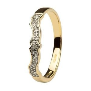 Diamond Set 14K Matching Wedding Ring For 14L68 14L69