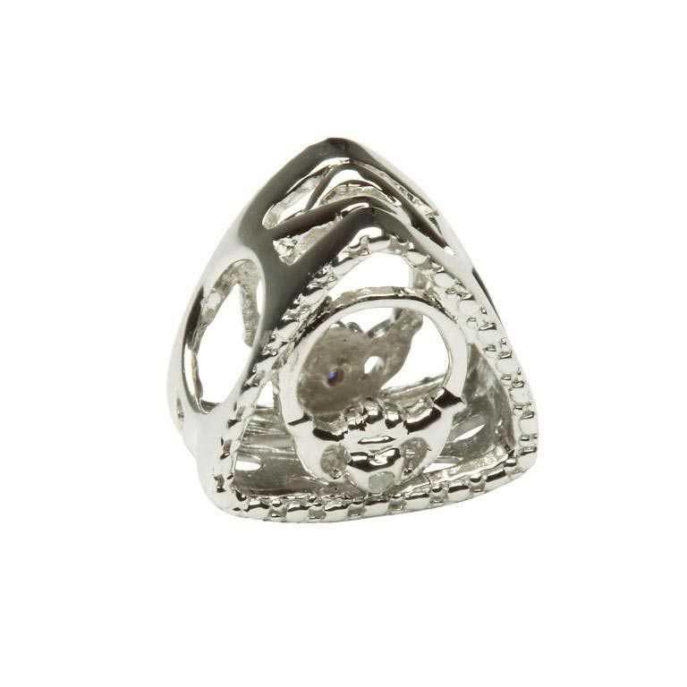 Diamond Set Claddagh Triangle Td130