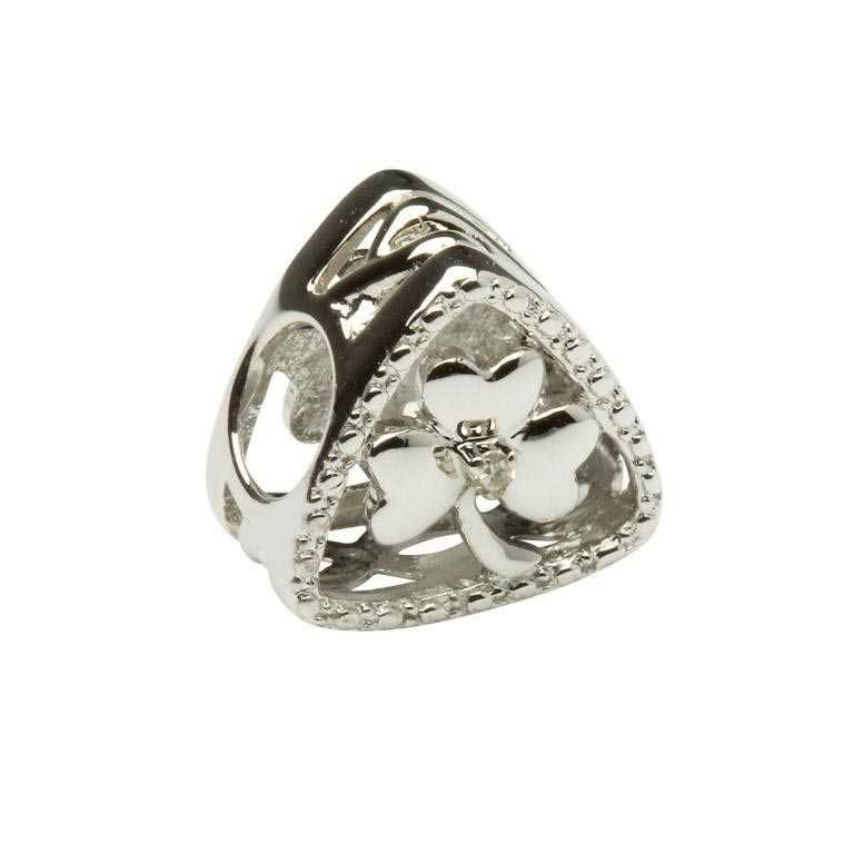 Diamond Set Shamrock Triangle Td131