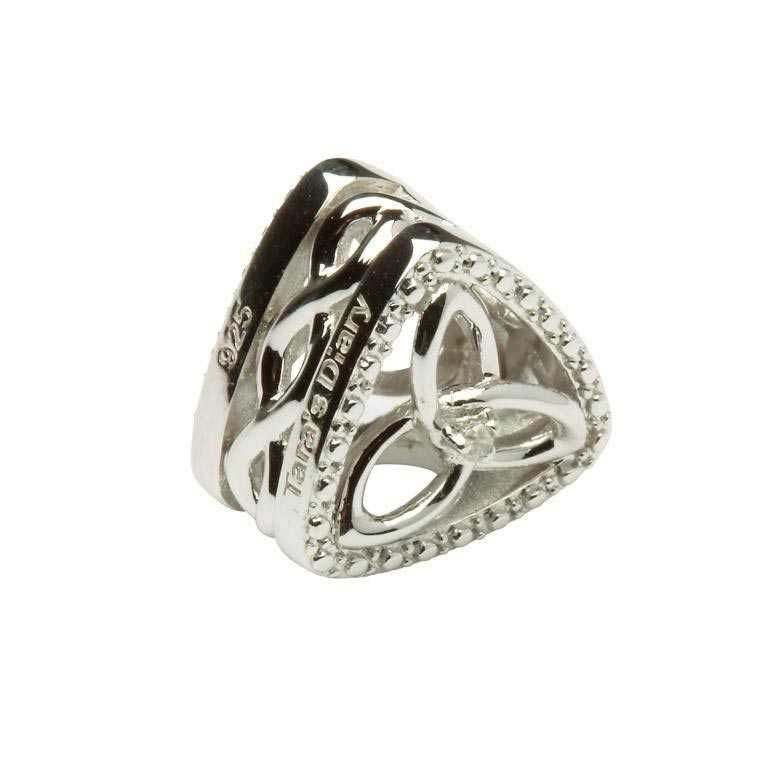 Diamond Set Trinity Knot Triangle Td129