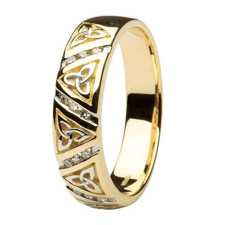 Diamond Wedding Ring Gents With Trinity Design 14Ic24