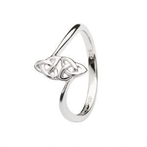 Double Trinity Knot Sterling Silver Ring Sl109
