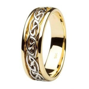 Gents Wedding Ring Celtic Knot Design 14Ic18