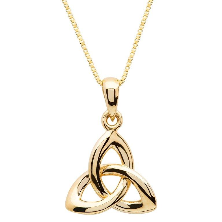 Gold 10K Trinity Knot Necklace 10P642