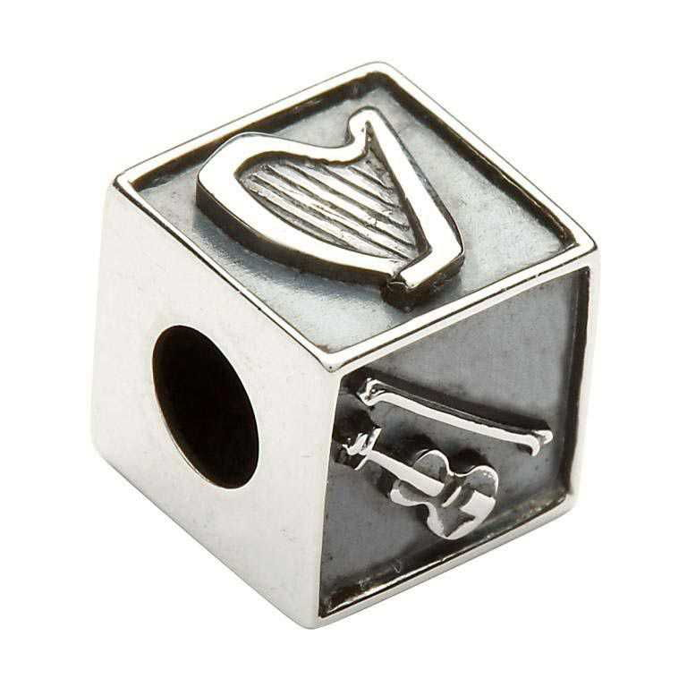 Irish Silver Music Bead Td99
