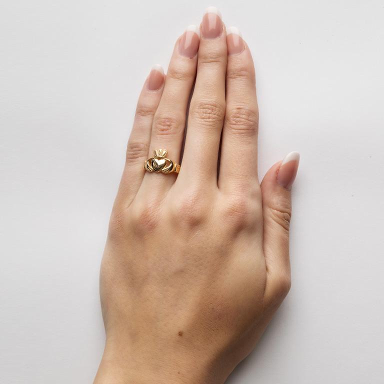 Ladies 10K gold Claddagh Ring - Design by ShanOre Irish Jewelry