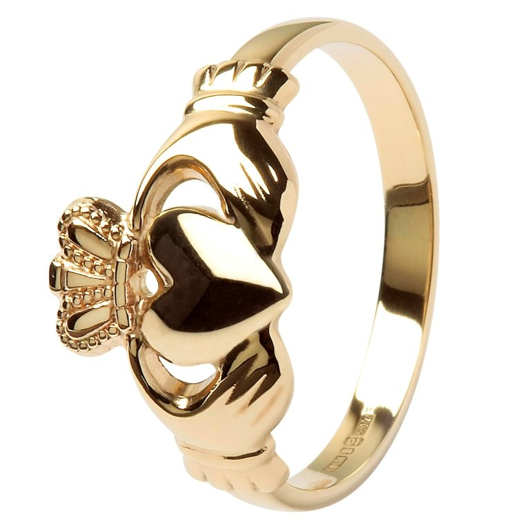 Ladies 10K Gold Claddagh Ring 10L1