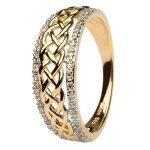 Ladies Celtic Knot Diamond Ring Jp20D - Gallery Thumbnail Image