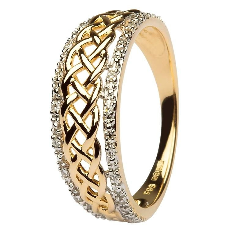 Ladies Celtic Knot Diamond Ring Jp20D