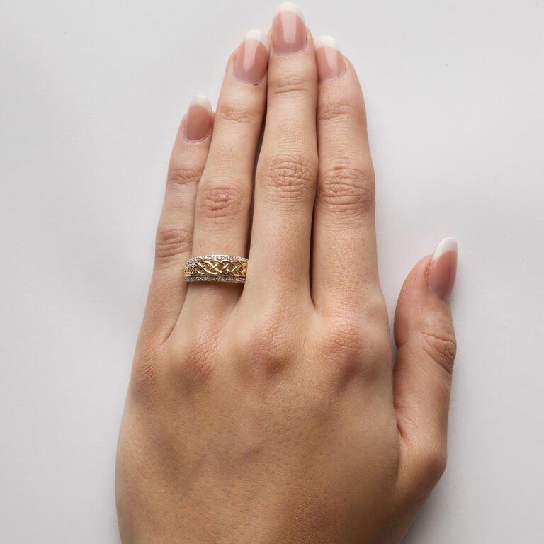 Ladies Celtic Knot Diamond Ring Jp20D_2