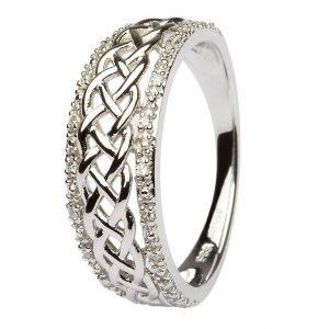 Ladies Gold Celtic Knot Diamond Ring Jp20Wd