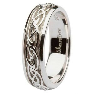 Ladies Silver Celtic Knot Wedding Ring Sd10