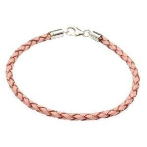 Pink Leather 7 Inch Bracelet Td82